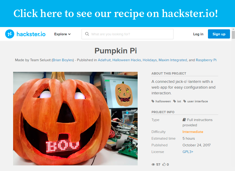 Seluxit IoT Rapid Prototyping Hackster io pumpkin pi