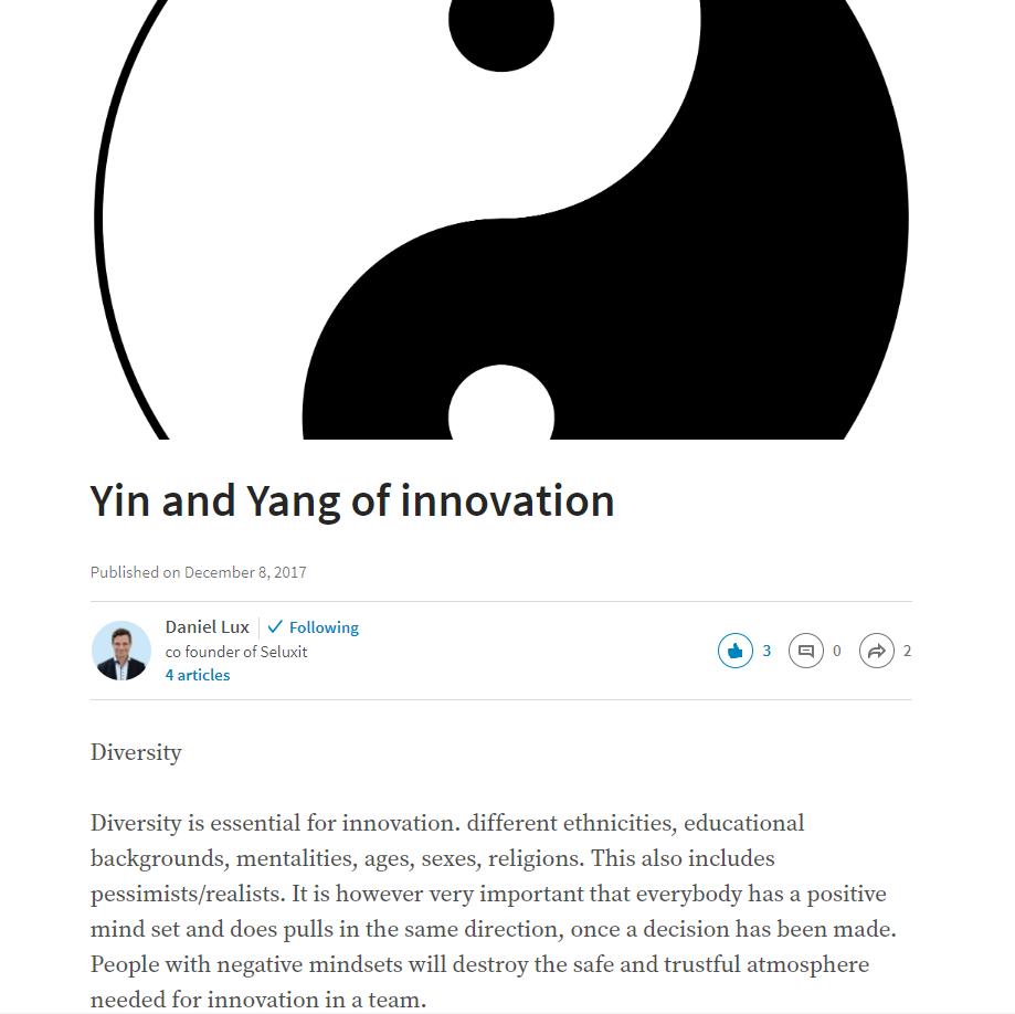 seluxit daniel lux yin yang innovation linkedin