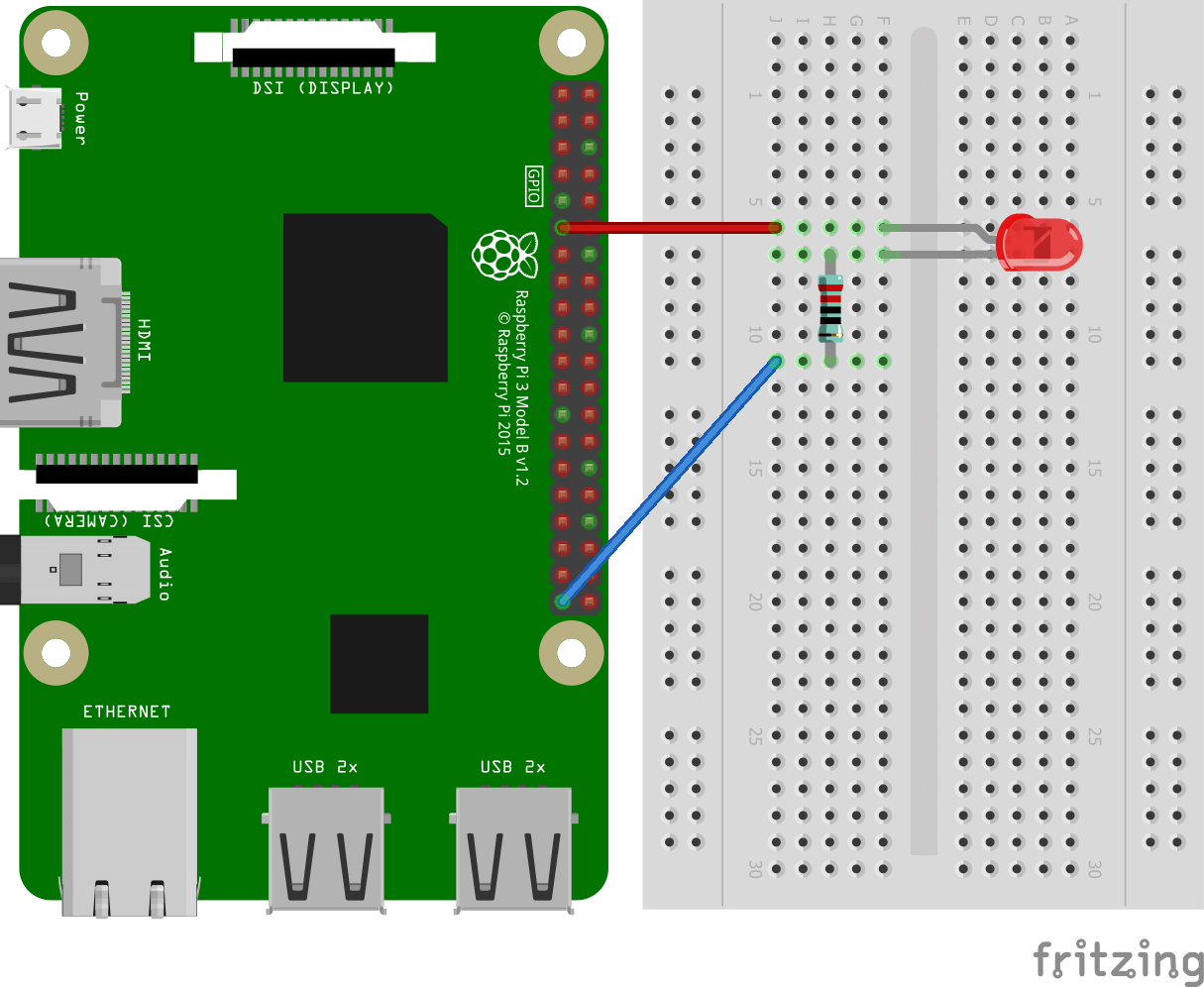 Wire up Pi to LED