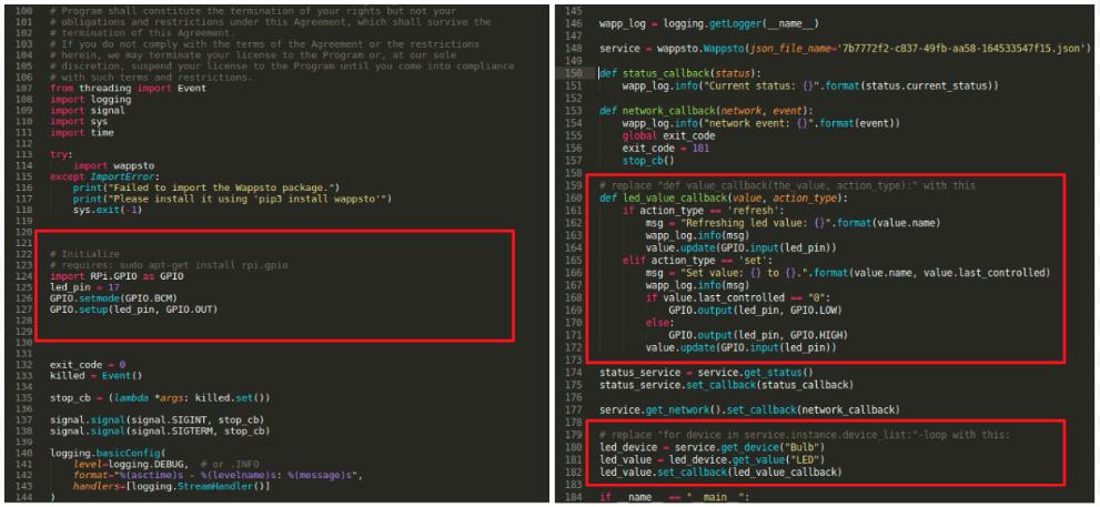 Edit python code